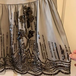 TORRID dressy blouse with plenty of black sequins